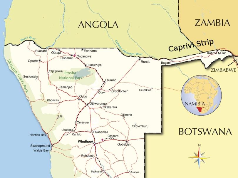 namibia-political-map